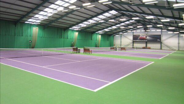 Indoor courts at David Lloyd Club Bushey